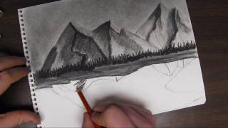 How to Draw a Mountain Landscape Tutorial Pt 2 of 3