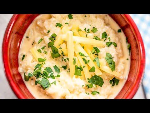Keto Cheese Grits Recipe Cheesy, Garlic & Cauliflower Very Easy to Make