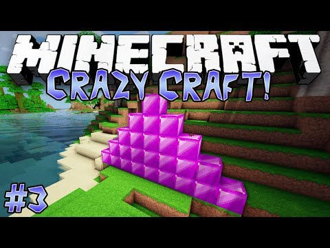 """OVER-POWERED ORE?!"" - CRAZY CRAFT (MINECRAFT MODDED SURVIVAL) - #3"