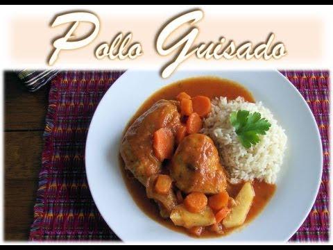 Receta Pollo Guisado Guatemala  YouTube