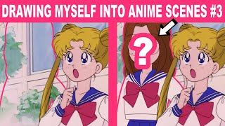 Drawing Myself into 3 Scŗeen Captures from My Childhood Anime! #3