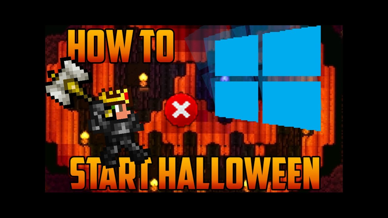 terraria - halloween; how to bring back the goodie bags & costumes