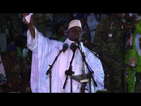 Gambia president warns against post-poll demonstrations