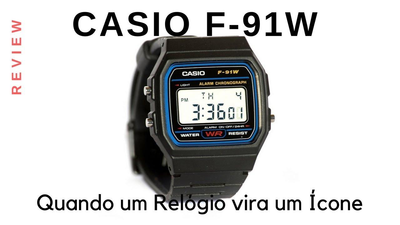 ccdb06af098 Review Casio F-91W - Quando um relógio vira um Ícone - YouTube