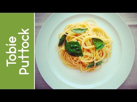 Spaghetti with Lemon, Basil and Parmesan Cheese