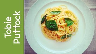 Spaghetti With Lemon, Basil And Parmesan Cheese
