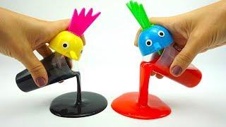Сюрпризы и игрушки в лизунах  Ищем игрушки монстров в лизунах  Детский канал Игрушкин ТВ