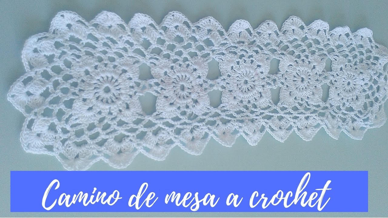 Camino de mesa tejido al crochet youtube for Camino de mesa a crochet