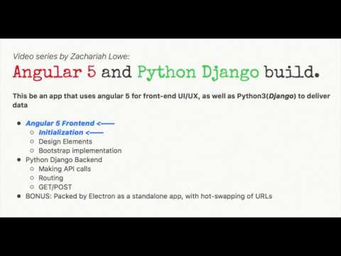 Angular(5) and Python(Django) app - 1/5 - Angular initialization