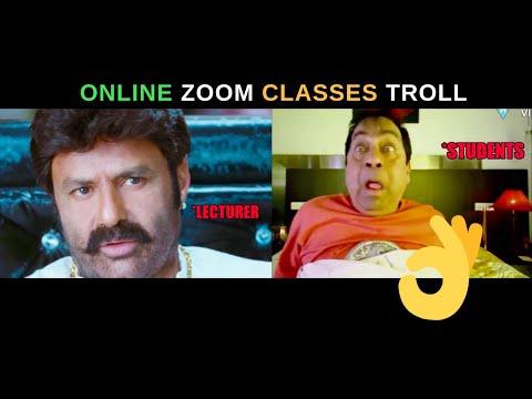 Online ZOOM Classes Troll Telugu | Zoom Classes Troll
