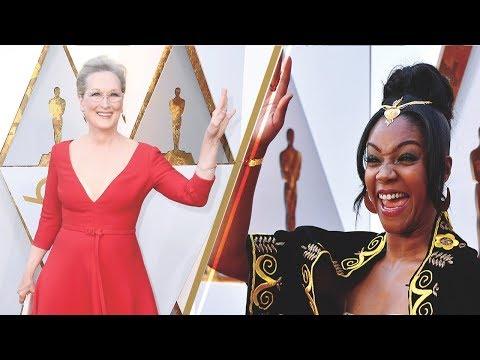 Tiffany Haddish Stalks Meryl Streep On Oscars Red Carpet | 2018 Academy Awards