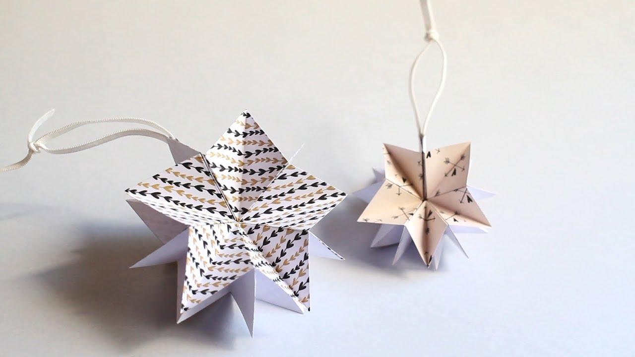 Manualidades de navidad estrella de papel youtube - Manualidades de estrellas de navidad ...