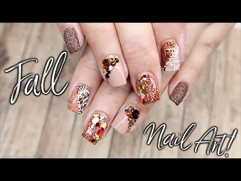 My Mom Picks Her Own Nail Design! | Fall Nail Art thumbnail
