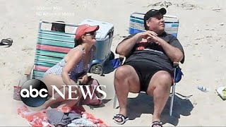 Burned at the beach: Governor Chris Christie photographed in the sun amid NJ government shut down