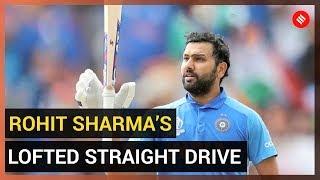 Rohit Sharma's Lofted Straight Drive - Gentle, Graceful, Delightful