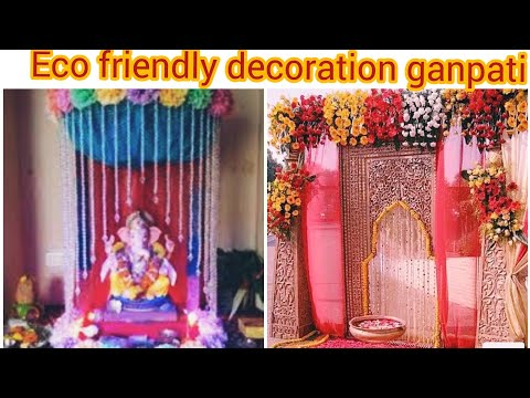 Ganpati decoresion ideas  Eco friendly makhar ideas ganpati   very easy decoration ideas2019  