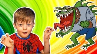Детям про Динозавров Челлендж Угадай Динозавра Загадки для Детей про Динозавров Сборник Lion boy