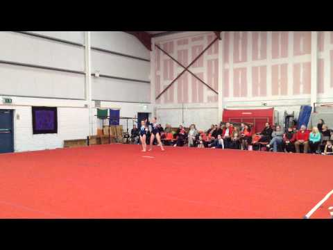 Daisy and Abby, first Acrobatics competition, Ballincollig, Cork. January 26th 2014