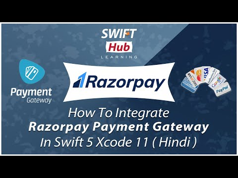 How To Integrate RazorPay Payment Gateway In Swift 5 Xcode 11 ( Hindi ) thumbnail