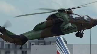 Airshow Paris 2019 Le Bourget 2019 incredible Helicopter Tigre HAD display in flight from take off t