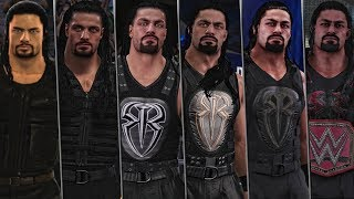 WWE 2K19 - Roman Reigns Entrance Evolution in WWE Games! ( WWE 2K14 To WWE 2K19 )