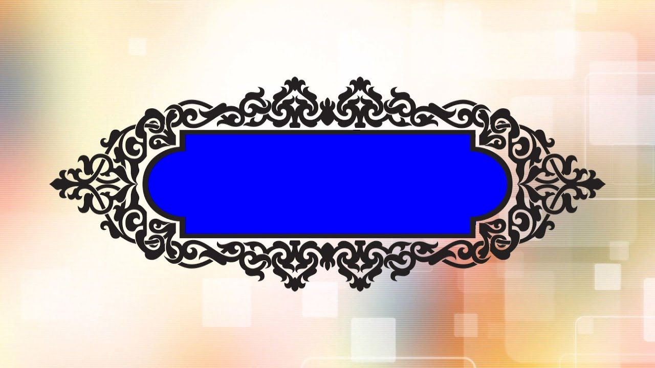 Wedding Title Animation Background Hd Free Download Blue Screen
