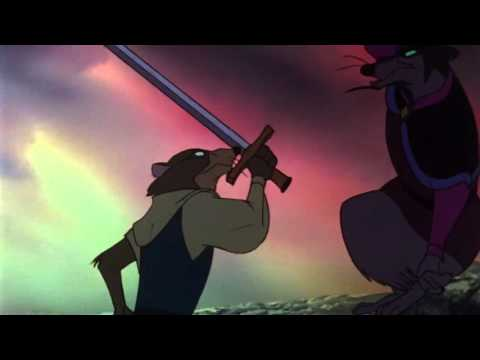 The Secret Of NIMH (1982) Justin fight with Jenner