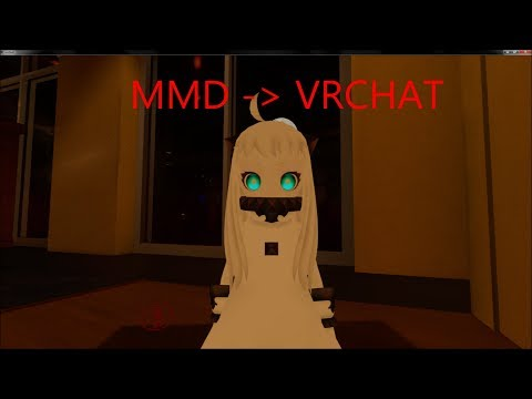 How to get MMD characters into VRchat!