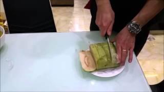 Mẹo cắt bánh chưng bằng dao .
