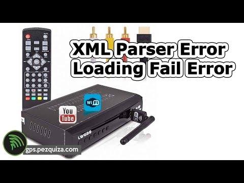 Conversor TV Digital Terrestre Wifi Youtube - Erros XML Parser e Loading Fail
