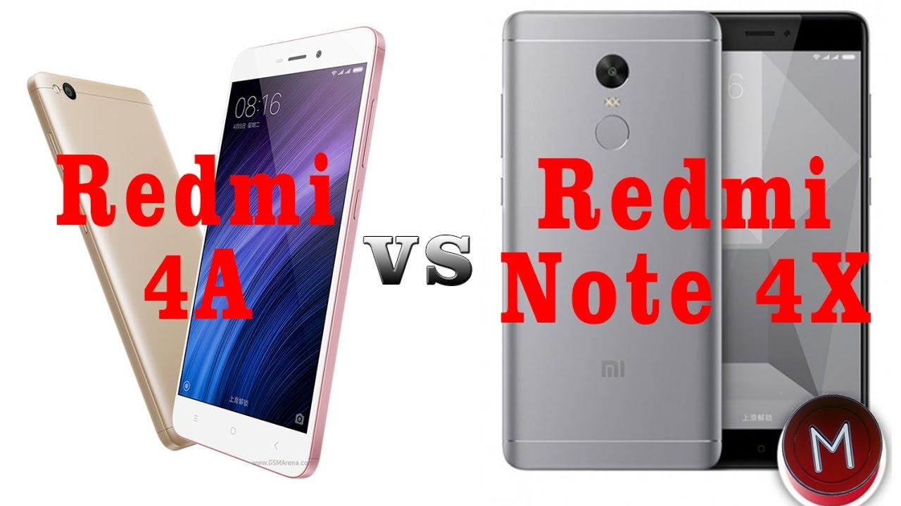 Xiaomi Redmi 4A vs Redmi Note 4X YouTube