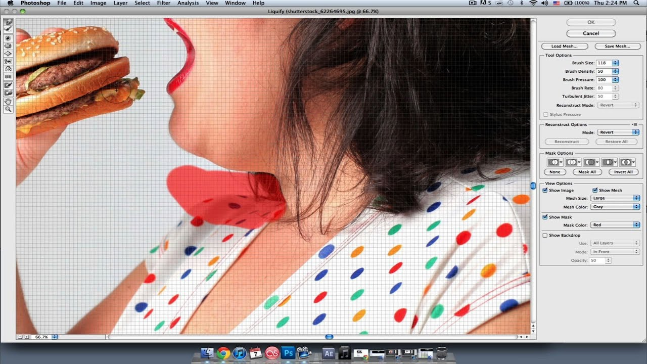 how to fix double chin photoshop