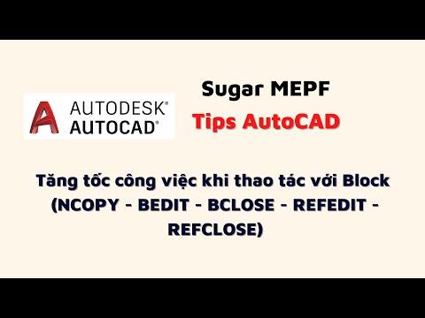 Autocad Tips 3: Tăng tốc công việc khi thao tác với Block (NCOPY-BEDIT - BCLOSE-REFEDIT-REFCLOSE)