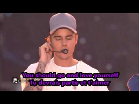 justin bieber love yourself lyrics traduction (purpose album)