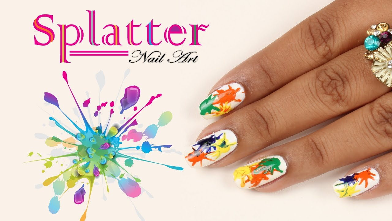 Do It Yourself Nail Designs: Splatter Nail Art Design - Do It Yourself