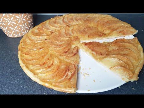 tarte-aux-pommes-pâte-feuilletée-facile-/-cookroutine