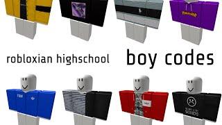 ROBLOXIAN HIGHSCHOOL BOY CODES