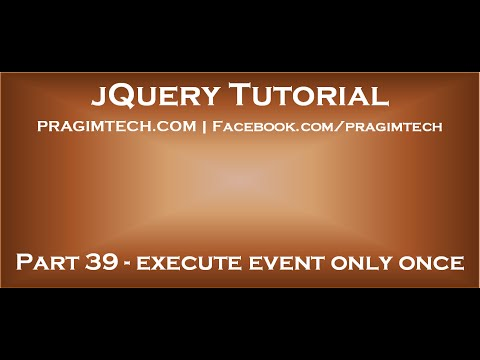 jquery execute event only once