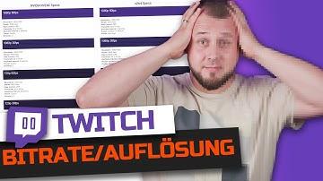 Die RICHTIGE Bitrate und Auflösung für Twitch einstellen