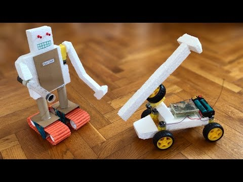 Robot War - Homemade Robot Battle - DIY ELECTRIC ROBOTS