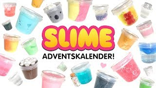 DIY SLIME ADVENTSKALENDER 😱 24 SCHLEIM Geschenke! Viral Slime Adventskalender auspacken! Deutsch