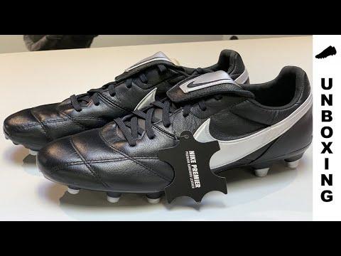 014e4dd46 Nike Premier II FG - Black/Silver Metallic - YouTube