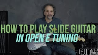how to play slide guitar in open e tuning with andy aledort