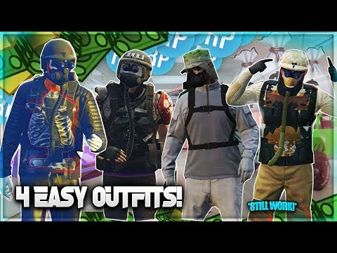 GTA 5 Online *4 EASY & SIMPLE COOL OUTFITS!* (Still WORK) RNG/TRYHARD