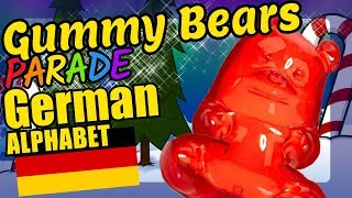 Christmas Gummy Bears Teaching the German Alphabet Letters Educational Language Video for Kids