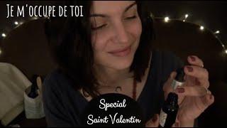 ASMR 🎧 Roleplay - Je m'occupe de ton visage pour la Saint Valentin 💝 Soins + Maquillage