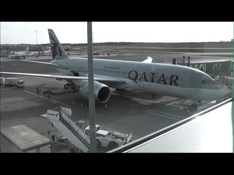 Qatar Airways QR34 Birmingham (BHX) - Doha (DOH) Business Class Boeing B787-8 Dreamliner