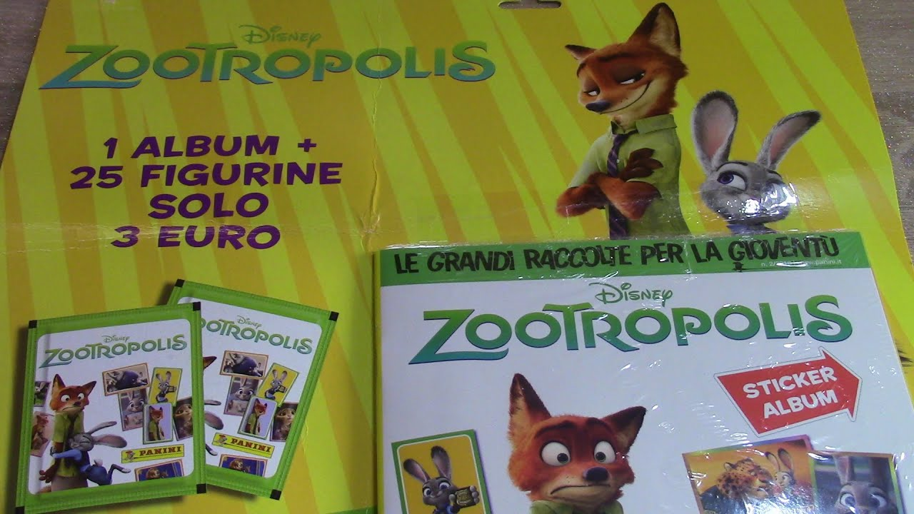 Disney zootopia starter pack panini album 5 packs of stickers review unwrapping movie 2016