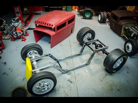 Scratchbuilt RC RatRod #3, Chassis Fabrication