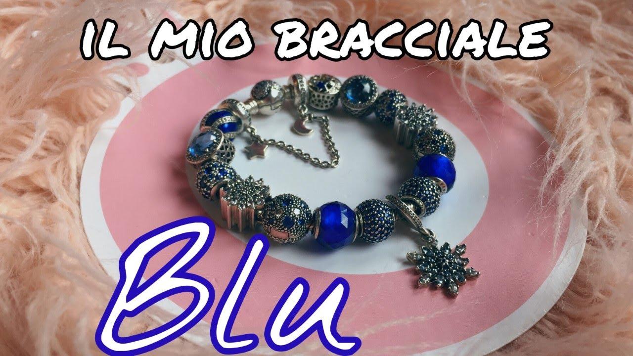 bracciale pandora blu